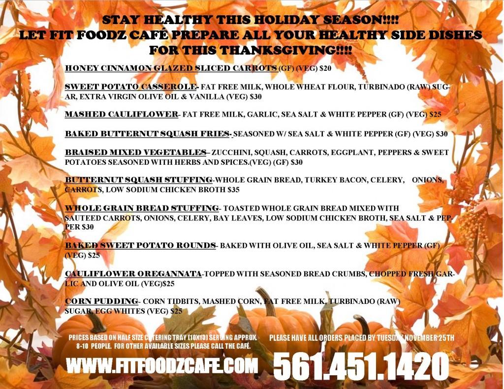 Thanksgiving advertisement for 2014