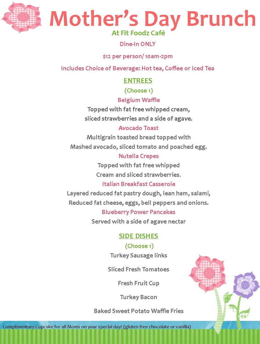 28 best mothers day brunch menu thursday s bistro for Best brunch menu